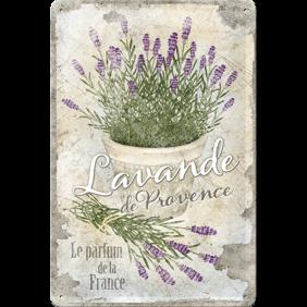 LAVENDEL BLOMMOR  Lavande de Provence METALLSKYLT 20x30cm France -