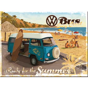 MAGNET Ready for the summer - VW SURFBUSS typ 2 Folkabuss Retro  -