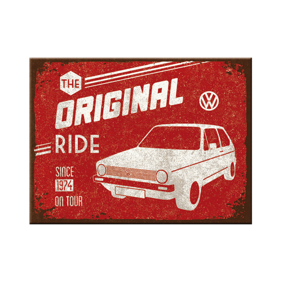 MAGNET The original ride - VW GOLF Retro -