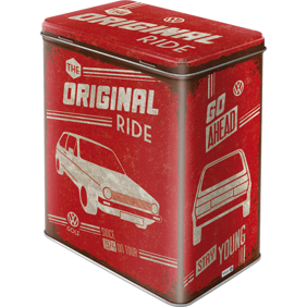 VW The original Ride GOLF BURK METALL 10,5x14,5x19,5cm Nostalgi Retro -