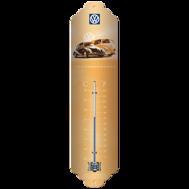 Der VOLKSWAGEN Termometer (metall) Bubbla BUSS typ 1 - 2 Folkvagn & Folkabuss