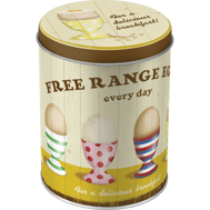 FREE RANGE EGGS EVERY DAY - for a delicious breakfast HÖNS/ANKA/FÅGEL ÄGG BURK 1liter