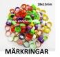 10st MÄRK-RINGAR för FÅGEL (18X15mm)
