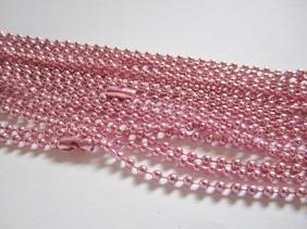 KEDJA välj färg (kulkedja) 2mm x 70cm - Rosa ca 70cm lång