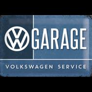 GARAGE SERVICE VOLKSWAGEN METALLSKYLT 20x30cm