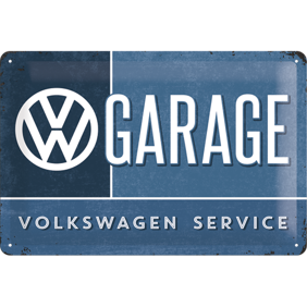 GARAGE SERVICE VOLKSWAGEN METALLSKYLT 20x30cm -