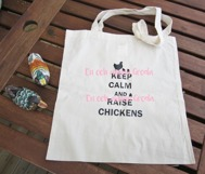TYGKASSE KEEP CALM AND RAISE CHICKENS HÖNS