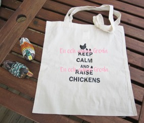 TYGKASSE KEEP CALM AND RAISE CHICKENS HÖNS - #1