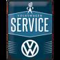 Stor VOLKSWAGEN SERVICE - METALLSKYLT 29x39,5cm Bubbla typ 1 typ 2 Golf Buss VW