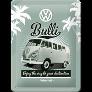 VW Bulli - METALLSKYLT 20x15cm  Buss/Folkvagn/typ 2