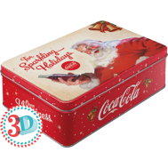 Coca Cola The sparkling Holidays BURK METALL 7,3x15,6x23cm TOMTE JUL X-MAS