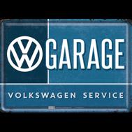 VW VW GARAGE VOLKSWAGEN SERVICE METALLSKYLT/VYKORT 10x14,5cm