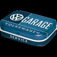 Välj! 1st Plåtask med sockerfria mintpastiller Volkswagen GARAGE VW RETRO