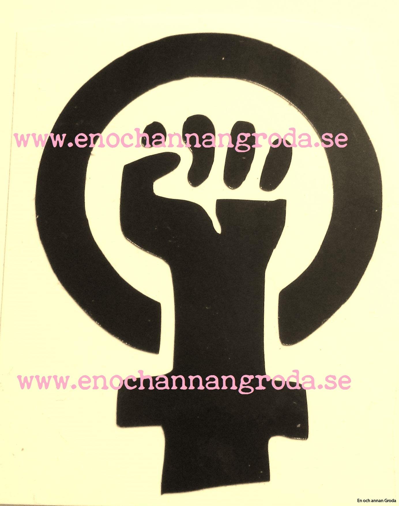 dekal kvinnokamp svart