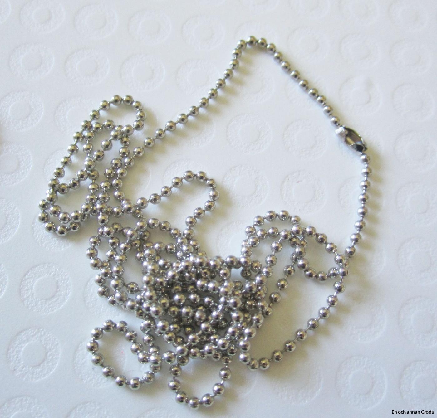 1,5mm halsb dull silver
