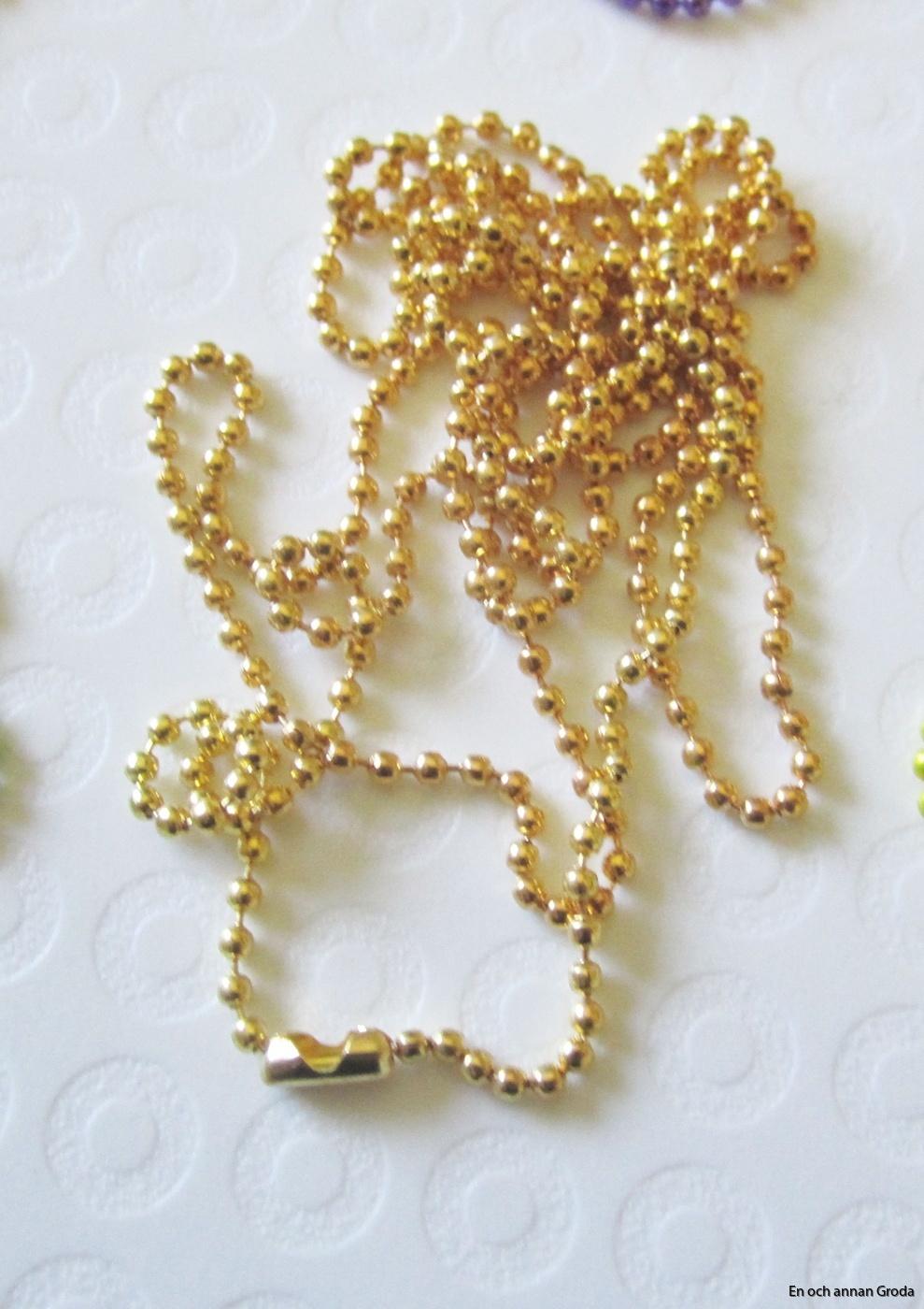 1,5mm halsb guldfärg