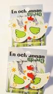 1par HÖNS ÖRHÄNGEN örkrok i silver Fågel/Höna/Tupp (trä)