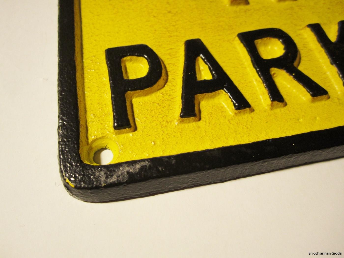 no parking gjutjärn skylt (2)
