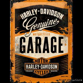 Harley-Davidson GARAGE METALLSKYLT -
