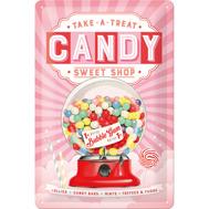 TAKE A TREAT CANDY SWEET SHOP - METALLSKYLT 20x30cm Godis Bubble gum