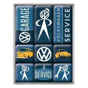 VW GARAGE SERVICE Magneter VOLKSWAGEN Bubbla/Folkvagn/Buss typ 1 typ 2 -