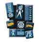 VW GARAGE SERVICE Magneter VOLKSWAGEN Bubbla/Folkvagn/Buss typ 1 typ 2