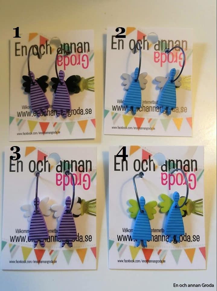 k-form änglar lila o blå - 1 2 3 4