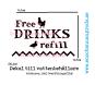 VATTENKOPP / NIPPEL och tillbehör tank/vinkelfäste till höns, kalkon, ankor, vaktel. DEKALER - 1st DEKAL Större Free DRINKS refill (höns & anka)