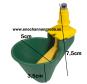 VATTENKOPP / NIPPEL och tillbehör tank/vinkelfäste till höns, kalkon, ankor, vaktel. DEKALER - nr 5b 1st KOPP grön