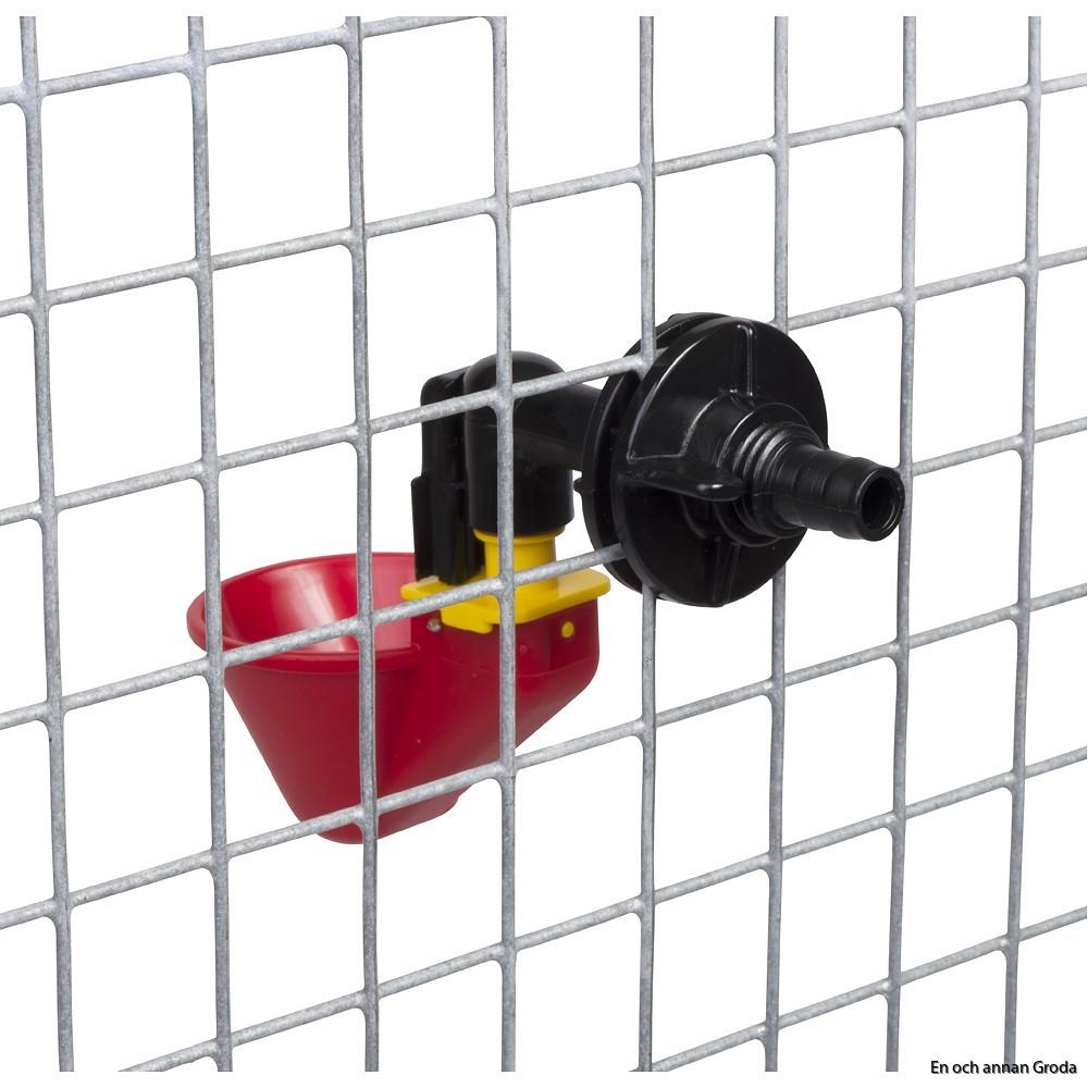 o röd kopp nätfäste bak