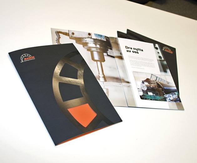 Imageskapande säljmaterial för Maskinkomponenter