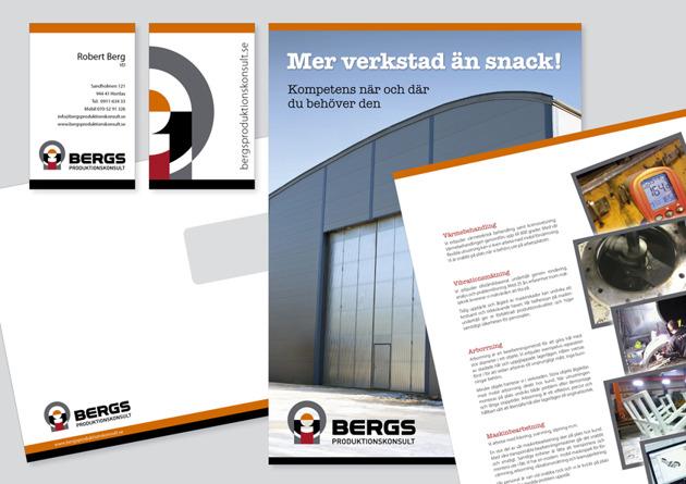 Ny språklig och grafisk profil för BERGS Produktionskonsult.