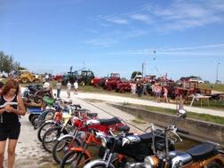Traktorträff i Kappelshamn hamn