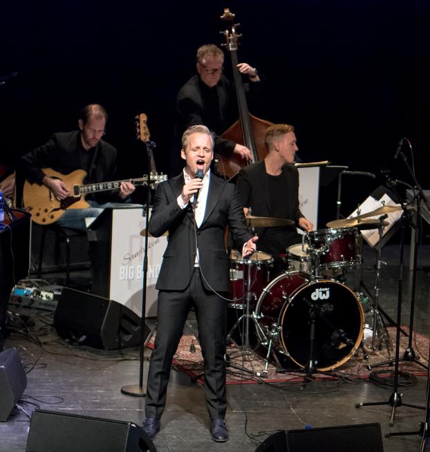 Andreas Weise med Sandviken Big Band Foto: Mats Blomberg