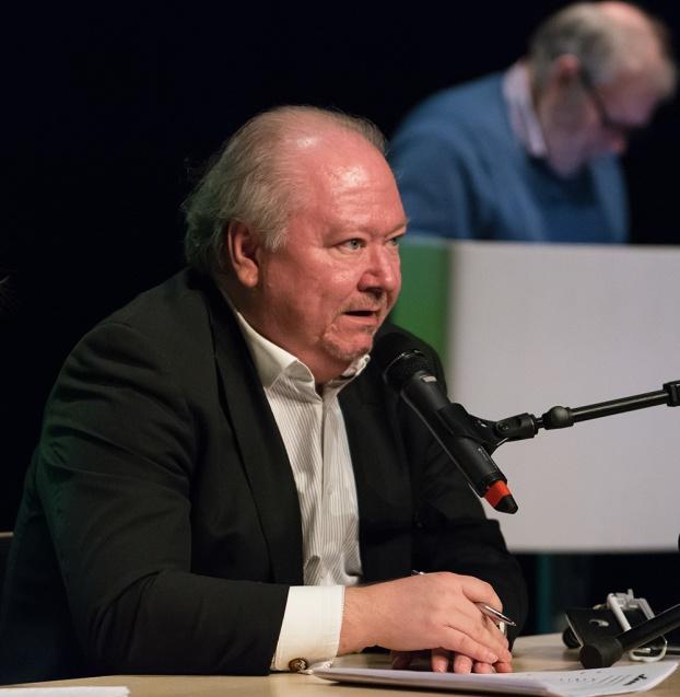 Mötesordförande Thore Flygel  Foto: Mats Blomberg
