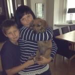 Emil, Åsa, Magnus med sin Alfons