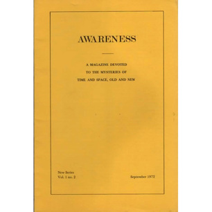 Awareness (1972-1982) - V 1 n 2 - Sept 1972
