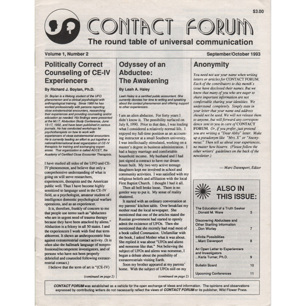 Contact Forum (1993-1996)
