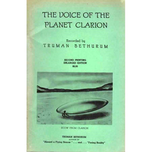 Bethurum, Truman: The Voice of the planet Clarion - Very good, former owner