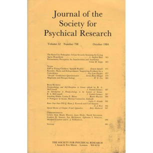 Journal of the Society for Psychical Research (1984-1987)