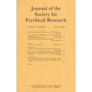 Journal of the Society for Psychical Research (1988-1989)