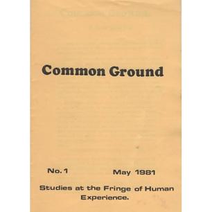 Common Ground (1981-1984?) - No 1 - May 1981