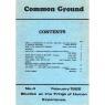 Common Ground (1981-1984?) - No 4 - Febr 1982
