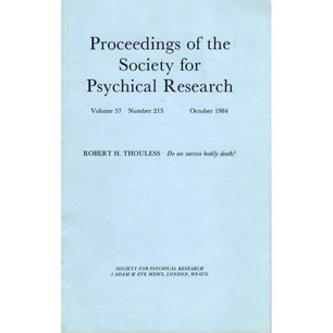 Proceedings of the Society for Psychical Research (1984-2011)
