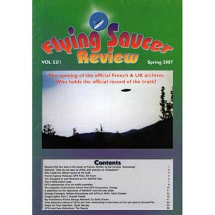 Flying Saucer Review (2006-2007) - Vol 52 n 1 - Spring 2007