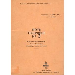 GEPAN: No-110: Note technique no.  3. Methodologie d'un problème: Principes & applications.  (Methodologie - Isocélie - Information). (A. Esterle, P. Besse, M. Jimenez)