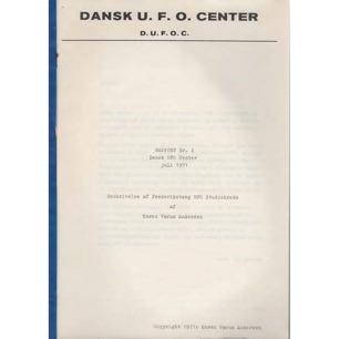 Andersen, Karen Vaerum.: Beskrivelse af Frederiksberg UFO-studiekreds. (Dansk UFO Center, Rapport nr 2)