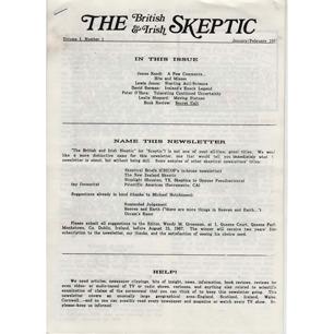 British & Irish Skeptic, The (1987-1990)