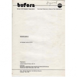 BUFORA (science paper 3): Cramp, Leonard G.: An engineer looks at UFOs