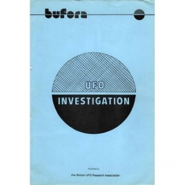 BUFORA: UFO investigation. A field investigator's handbook.